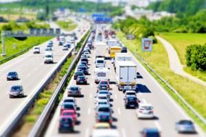 Autobahn A 8 bei Mhringen, Tilt Shift Effekt